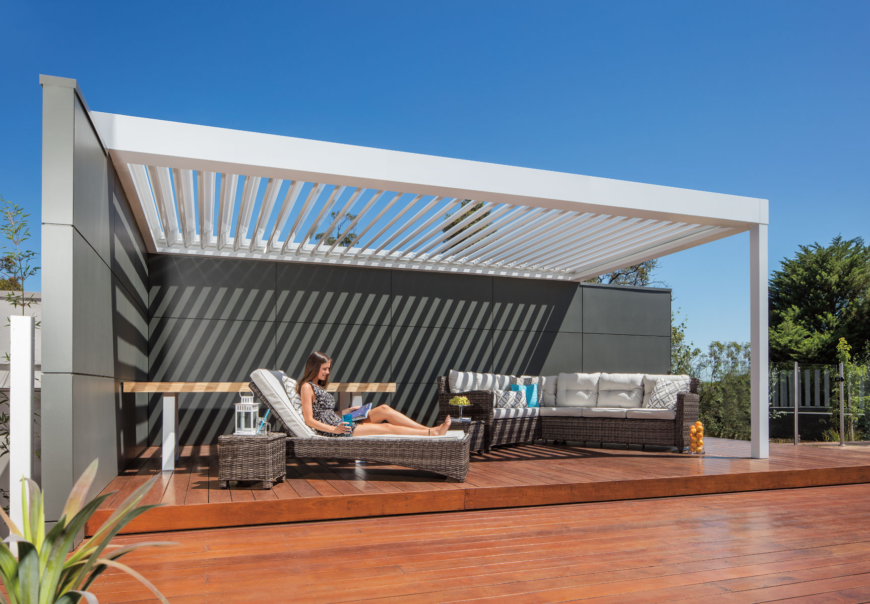 relaxing-under-stratco-pavilion-allure